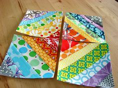 colorful string quilt blocks