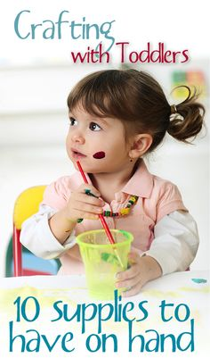 Toddler Craft Supplies: 10 Essential Things to Have on Hand by Sherri Osborn for FamilyCorner.com