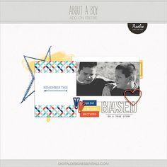 Quality DigiScrap Freebies: About A Boy tiny kit freebie from Digital Design Essentials
