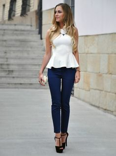 frilled waists such as this can make the hips look wider underneath a shortened looking torso.