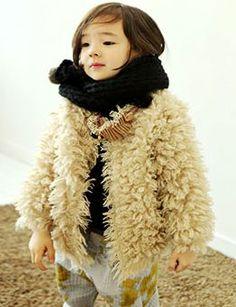 select shop of imported clothes cute tsubomi Korean children's clothes amber, of annika - bien a bien costume fur cardigan