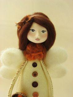 art doll autumn fairy - felted doll by MyriamPowellDesigns found in www.etsy.com