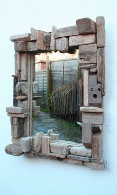 Driftwood Mirror,Drift Wood Mirror,Natural Wood Mirror,Driftwood collage Mirror £160.00