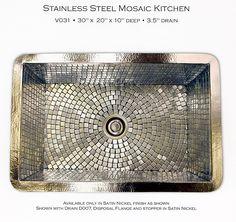 #Mosaic Sink! #metallic #brilliant