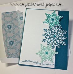 Stampin Up Festive Flurry Christmas Card By simplestampin.typepad.com