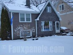Faux stone siding panels add curb appeal to this home, dressed up for the holidays      http://www.fauxpanels.com/img_c/12-carlton/portfolio/168.jpg