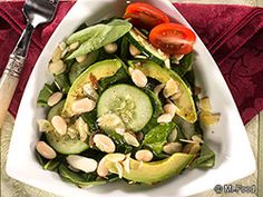 Beauty Salad - This easy, homemade salad is definitely a beaut! We mix together some of our favorite green fruits and veggies, including cucumber, spinach, avocado, and more, to make a lunch recipe that's better than anything you'd get at a restaurant.