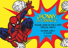 Spiderman Birthday Party  invitation by jonyba on Etsy, $5.90