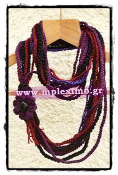 purple crochet neckl