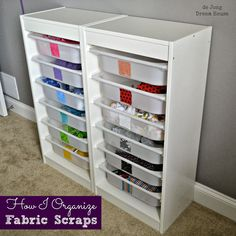 de Jong Dream House: Organize | Fabric Scraps