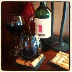 wine cork coasters