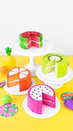 Fruit designed cakes