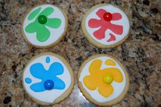 I thought these paintball cookies would be great for the Community premier.