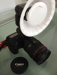 DIY Beauty Dish out of a styrofoam bowl
