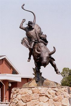 Lane Frost Champion Statue -- Frontier Days Park, Cheyenne Wyoming