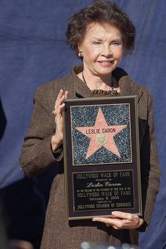 Leslie Caron by Sharon Graphics, via Flickr ~ On 8 December 2009, Leslie Caron received the 2,394th Star on the Hollywood Walk of Fame.