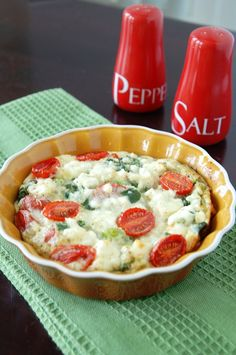 Spinach Egg White Frittata with Feta Cheese