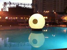 Gold's Gym Floating Globe