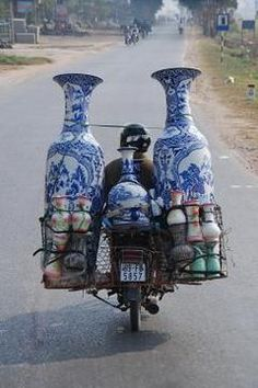 Vietnam bicycl, ginger jars, flea markets, hous, homes, place, chinoiserie chic, blues, china