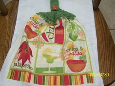 Mexican Chips and Salsa Crochet Top Kitchen by kayandgirlscrafts, $2.85