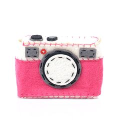 Pink Felt Camera Case  #uniquevintage