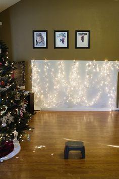 DIY Easy Holiday- Christmas Light Backdrops