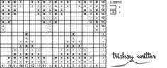 Chevron stitch chart
