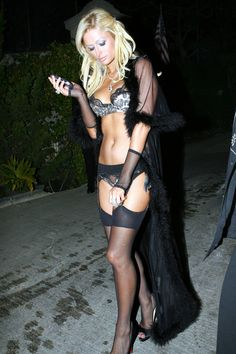 Paris Hilton @ Hugh Hefner's 80th Birthday Party, love the outfit.