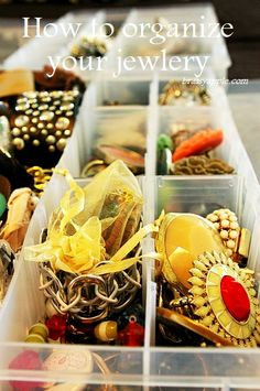 How to organize your jewelry- brassyapple.com #accessories #diy #organization