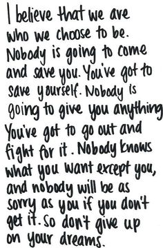 Save yourself.