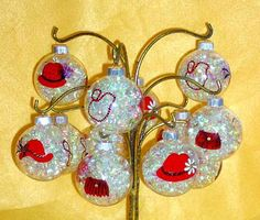 Red Hat Lady Ornament by ConniesCreations2010 on Etsy, $5.00