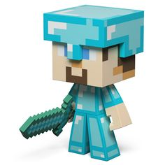 J!NX : Minecraft Diamond Steve Vinyl - Clothing Inspired by Video Games & Geek Culture