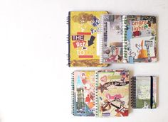 "love these ""old school"" smash books from oh hello friend!"