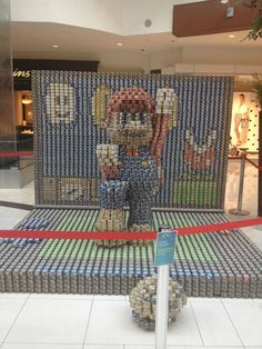 3D Mario canned food display