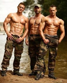 Hot guys in camo.,. The only thing that would make it better would be tattoos or cowboy hats