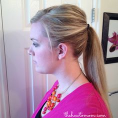 Poofy ponytail tip - works great to keep a little volume up top, even on thick/heavy hair! via The How To Mom