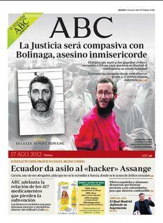 La portada de ABC del 17 de agosto