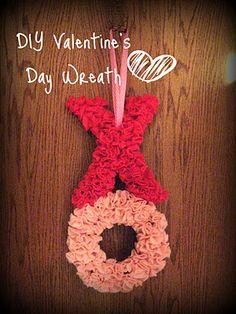 DIY Valentine's Day Wreath Tutorial