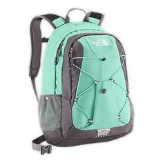 Mint North Face backpack. For school and travel.