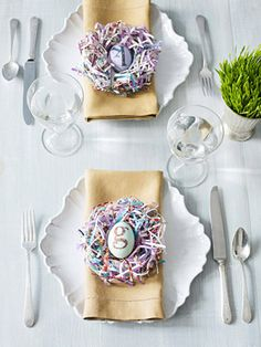 Easter Table Setting #diy  #spring #easter #craft