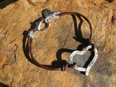 Leather LOVE Knots  Bracelet by fleurdesignz on Etsy