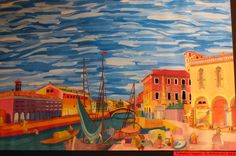 """Il Ponte Sul Sile"", by Valentina Campisi, a student of Prof. Fabio Sandrini at L. Coletti Middle School in Treviso, one of 95 communities in the Sister City twinning with Sarasota and Treviso Province in Italy. The art was displayed at the Hands of Heritage Fest at Robarts Arena in Sarasota in 2003"