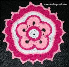 Crochet Colorful Petal Doily
