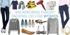 Travel Europe Packing List for Women — Packing Guide for Backpacking Europe *BEST PACKING LIST I'VE SEEN!
