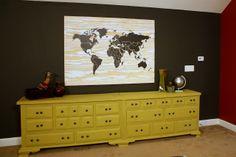 DIY Plywood World Map {Knock It Off}