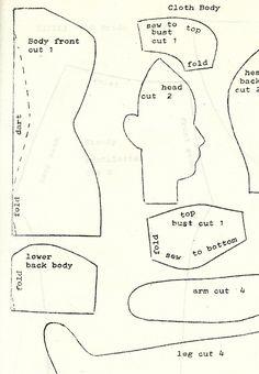 New+Free+Cloth+Doll+Patterns | Ella's Original Doll Pattern #41: Cicely, Circa 1810 Bride Doll