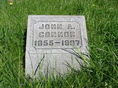 Tombstone Tuesday - John Connor #genealogy #familyhistory