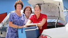 Heather Murray, Acacia Ridge Meals on Wheels Coordinator Margaret Todd and Quest News journalist Hayley Sultanie. Picture: Sarah Keayes. Source: News Limited