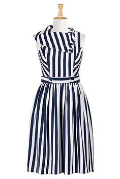 #eShakti #Vintage stripe knit dress