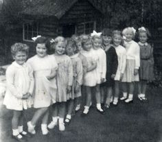 Birthday party in about 1953